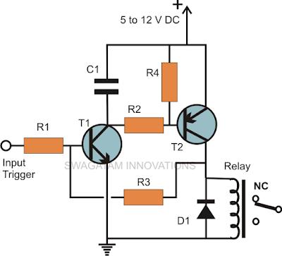simple 2 transistor latch circuit