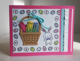 DIY  Basketful of Easter Peeps Easter Card