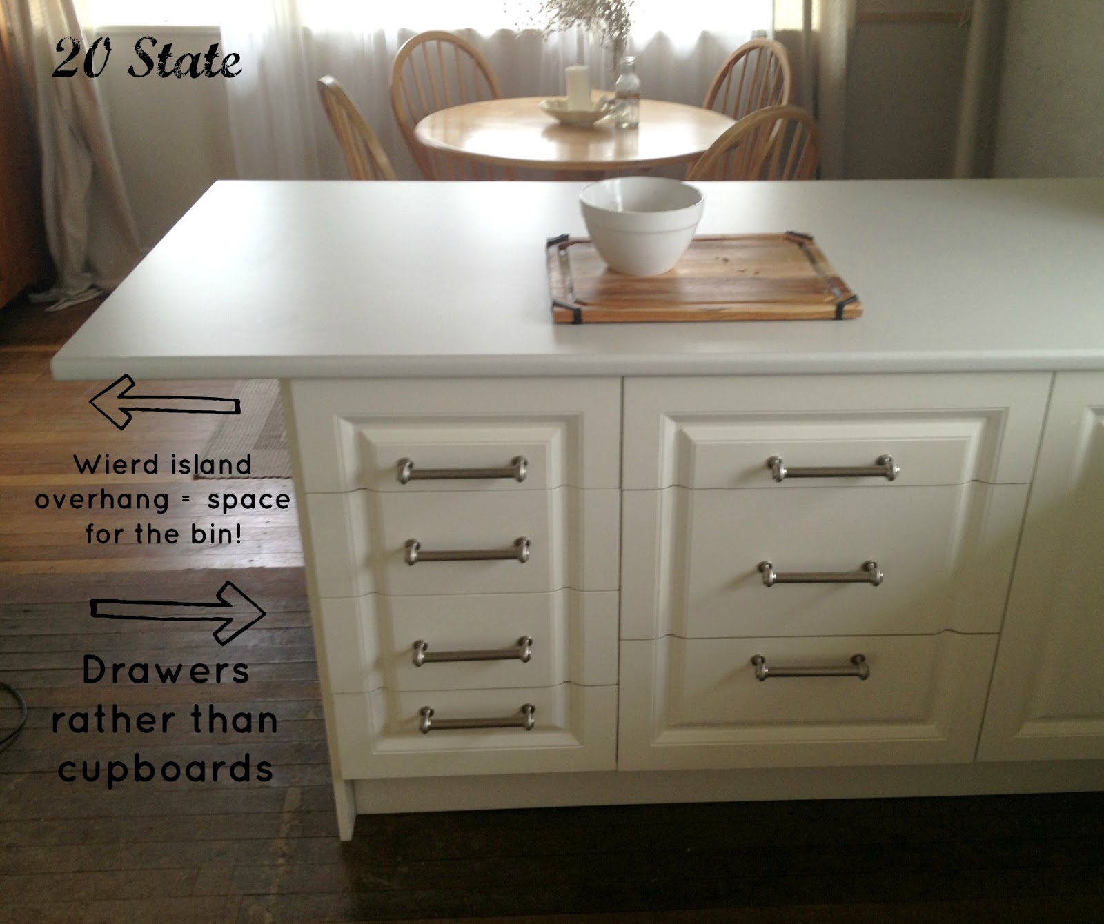 An Oddly Shaped Kitchen Island: 20 State: White Flatpack U Shaped Kitchen With Island