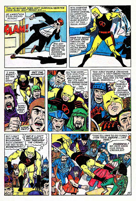 Daredevil v1 #5 marvel comic book page art by Wally Wood