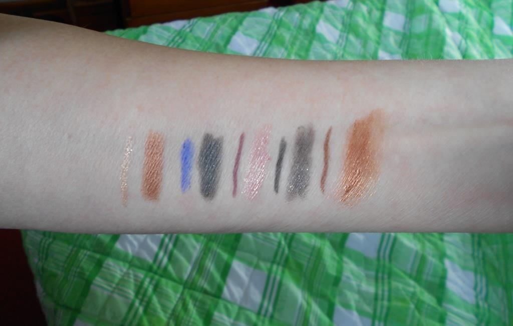 swatches of Rimmel Magnif'Eyes Double Ended Shadow + Liner Collection