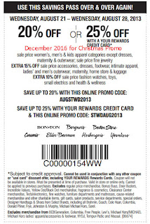 free Carson Pirie Scott coupons for december 2016