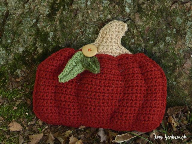 Fairytale pumpkin from the Rustic Pumpkin Pillows crochet pattern