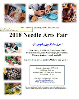 poster with the details for the Cataraqui Guild of Needle Arts fair