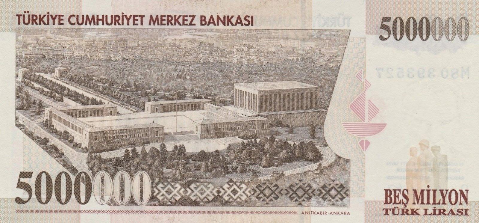5 Million Turkish Lira Note