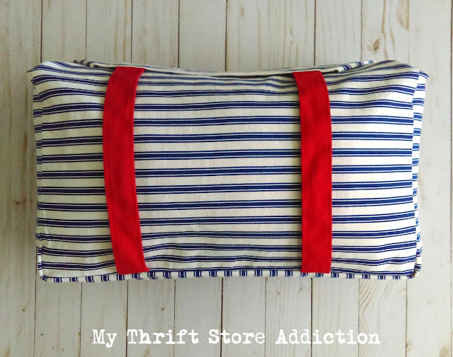 15 minute no sew pillow from Target tote bag