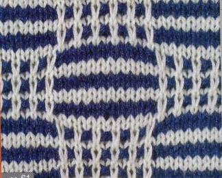 Patrón #1619: Punto Multicolor a Dos agujas.