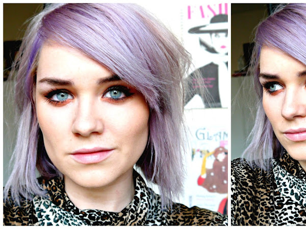 Turning blonde hair lilac with Bleach London 'Violet Skies'
