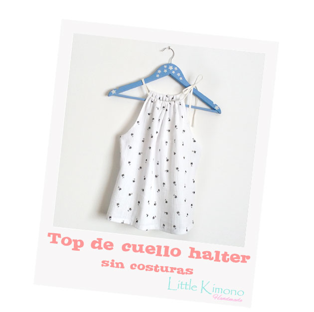 dee99f470 Top de escote halter   Ribes-Casals y  Handbox - Little Kimono ...