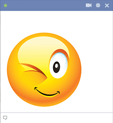 Winking Facebook Sticker