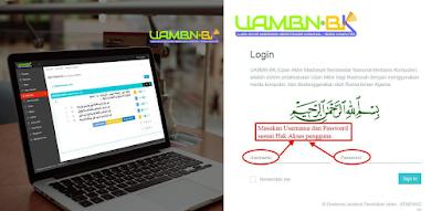 aplikasi uambnbk online