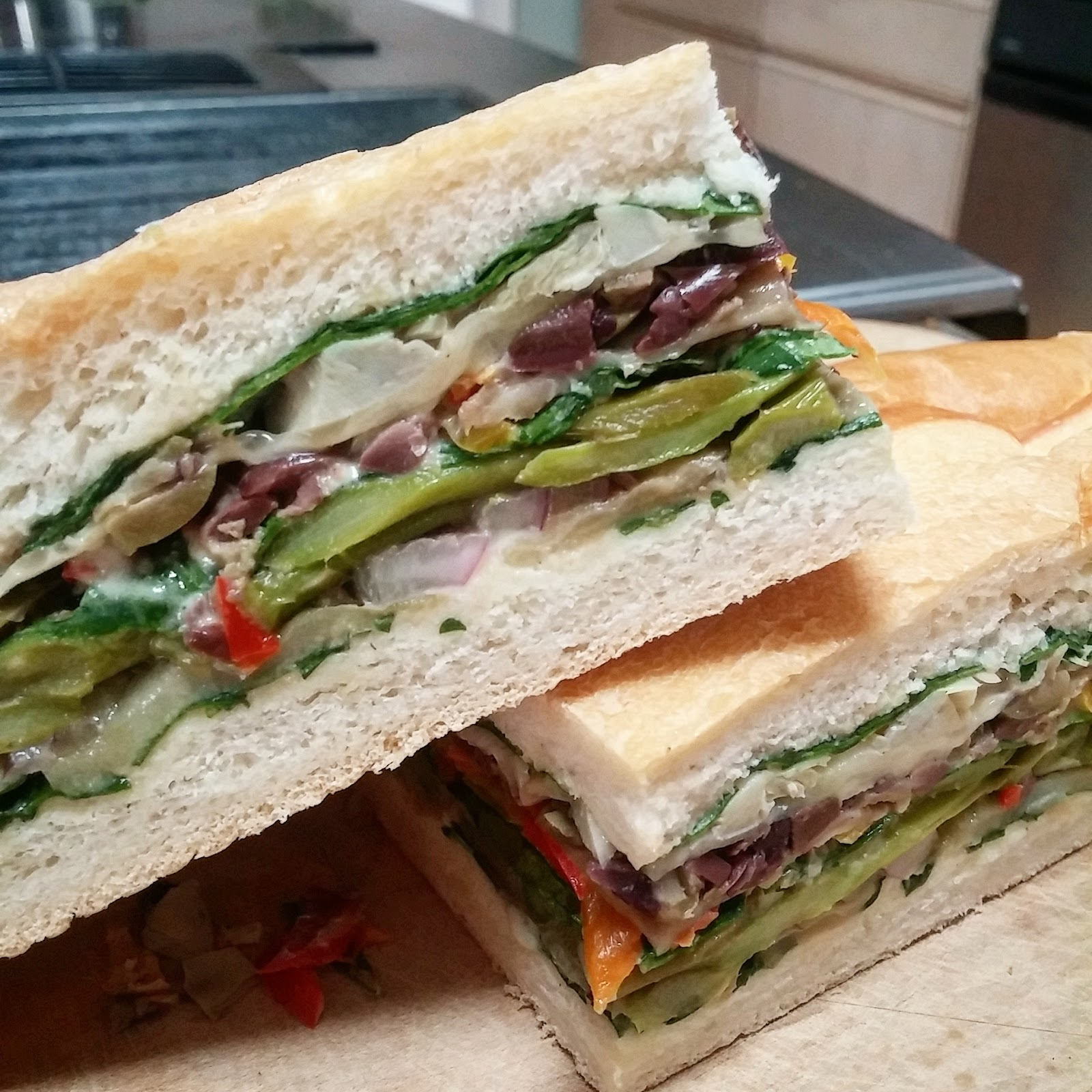 Simply Gourmet: Italian Pressed Sandwich #vegan #vegetarian
