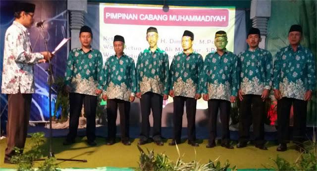 Pelantikan Muhammadiyah dan 'Aisyiyah Cabang Watukebo sekaligus pengajian jelang ramadhan 1437H