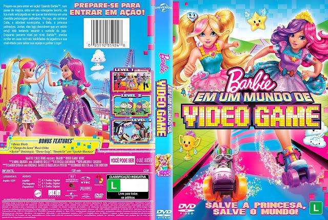 Capa DVD Barbie em Um Mundo de Video Game [Custom]