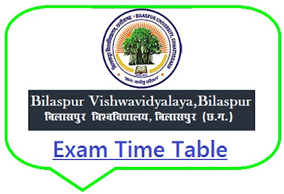 BU Bilaspur Time Table 2019