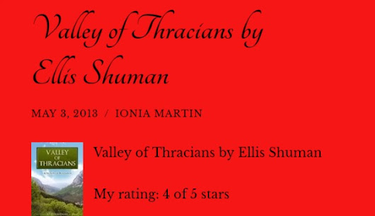 Review of Valley of Thracians by Ionia Martin