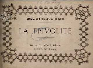 Thérèse de Dillmont, La Frivolité, Bibliothèque DMC, 1924