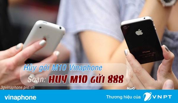 Cách hủy gói M10 Vinaphone chỉ với 1 tin nhắn