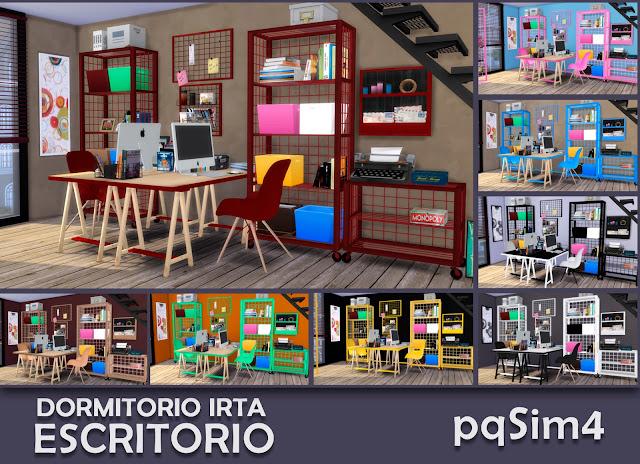 Cabecera muebles escritorio Irta Sims 4