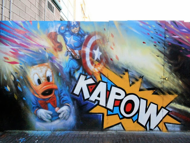 """""""Kapow"""" New Street Art Mural By Dale Grimshaw on the streets of London, UK. 2"""