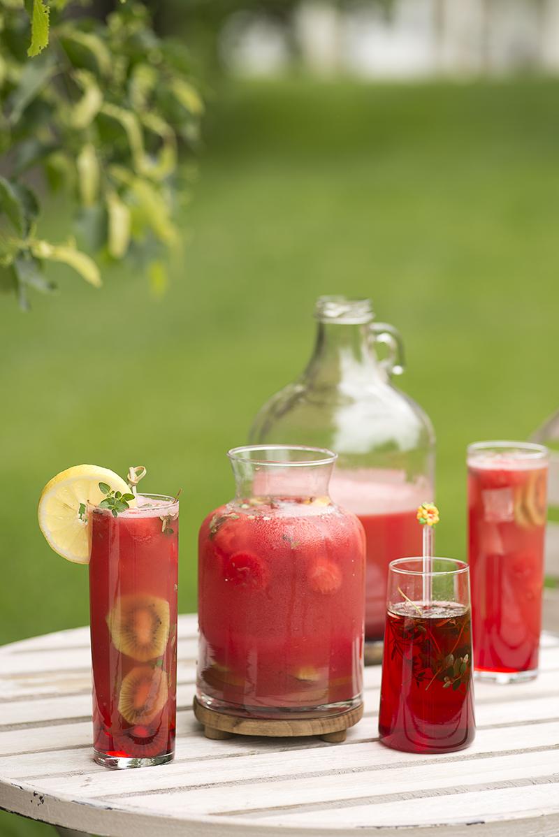 Watermelon-Hibiscus-Kiwi sangria : Simi Jois Photography
