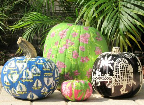 Lilly Pulitzer Painted Pumpkins