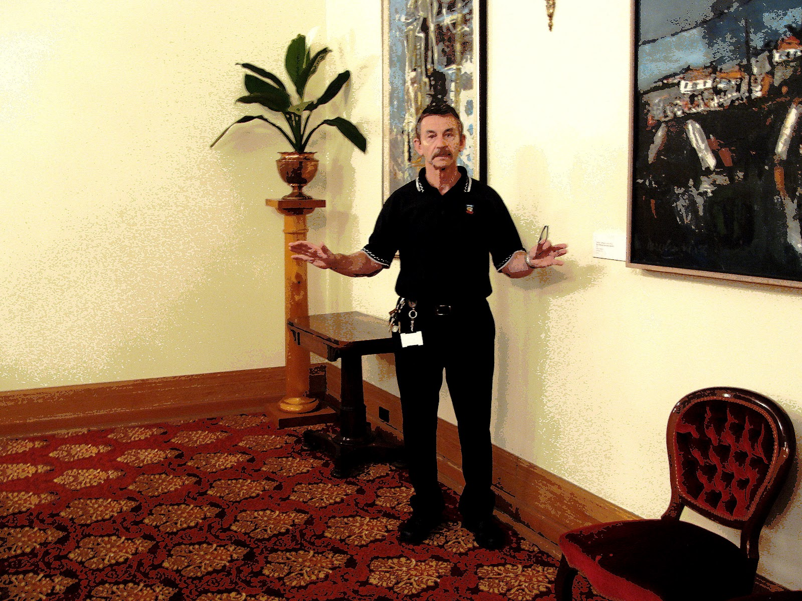 Mr Mike Lonergan Hobart Town Hall keeper 2012