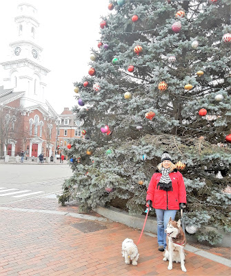 Beautiful, historic North Church in Portsmouth New Hampshire.  Quaint New England town