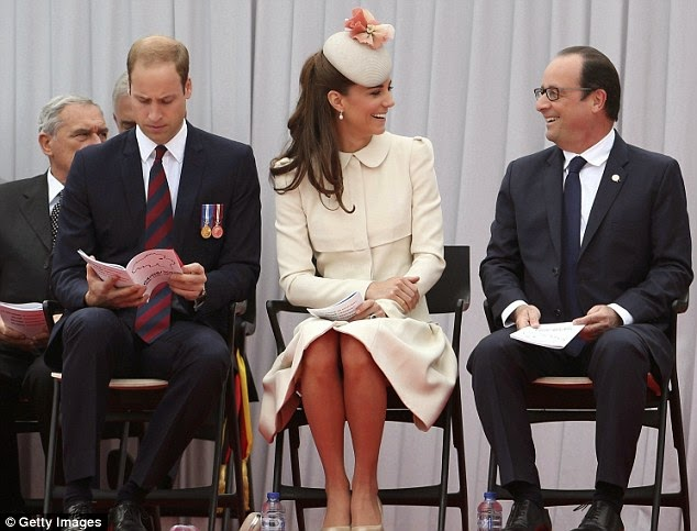 Kate Middleton in an Alexander McQueen coat dress at the WW1 100 Years Commemoration Ceremony in Belgium