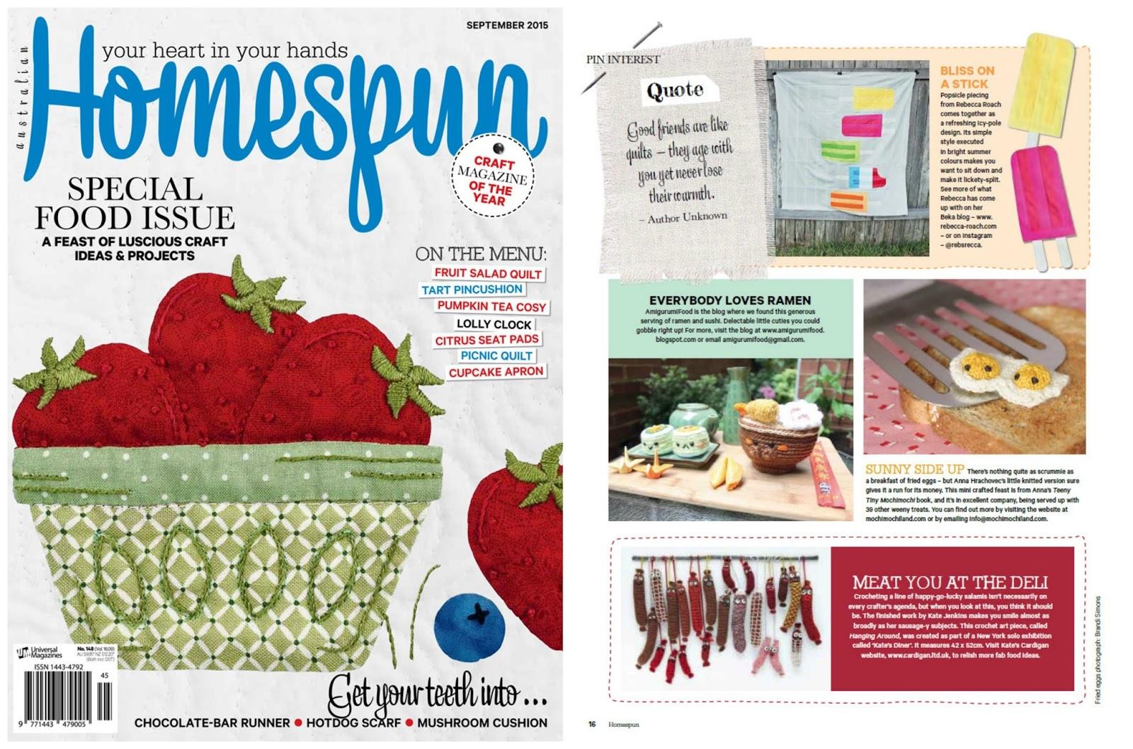 Amigurumi For Beginners Magazine : Amigurumi Food: January 2015