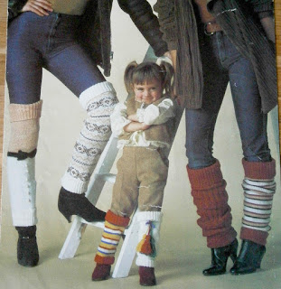 Wearing leg warmers over jeans in the 80s