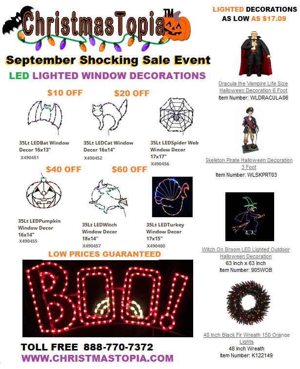 #Halloween is only 39 days a way. Please come and join us for our September Shocking #Sale Event going on now Save Money with Coupons and #Free Ground Shipping http://bit.ly/2wcBQah