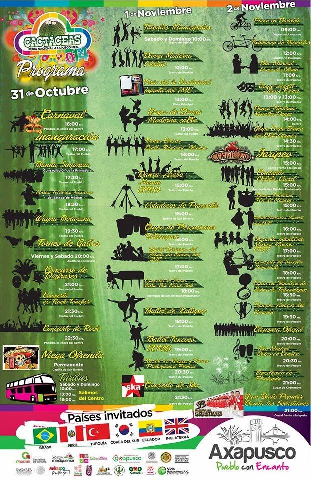 programa de la feria de las cactáceas 2014