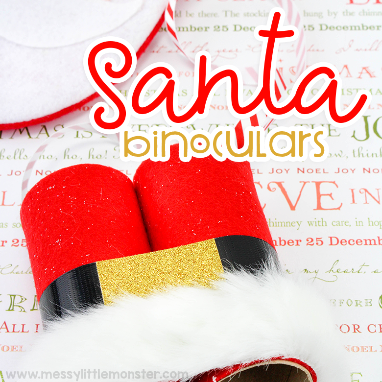 Fun santa crafts for kids - santa binoculars