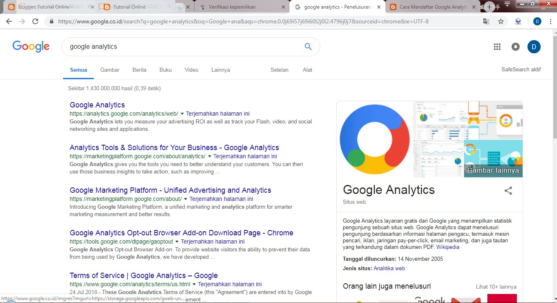 Google Analytics Blogspot