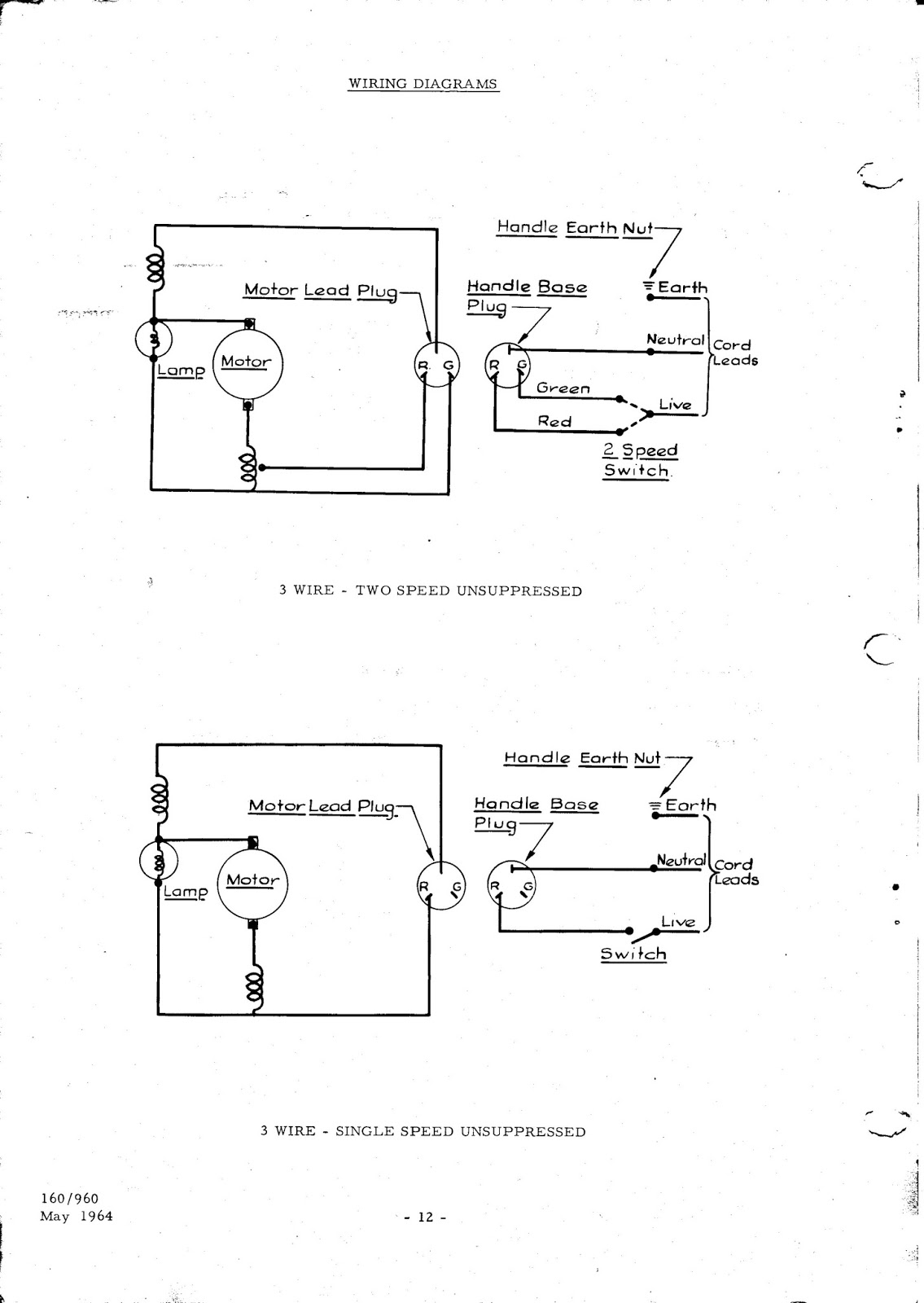 0012 hoover 160 & 190 service manual parts list henry hoover switch wiring diagram at crackthecode.co