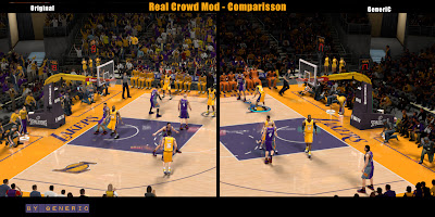 NBA 2K13 Real Crowd Mod Comparison (Staples Center)