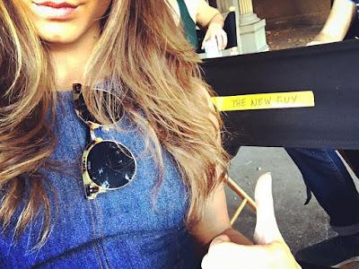 "PLL bts 7x14 ""Power Play"" Troian Bellisario (Spencer) ""the new guy"" chair"