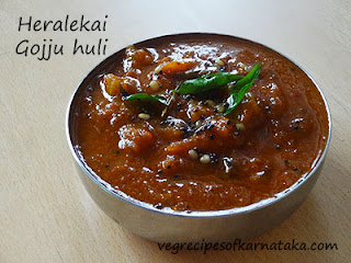 Heralekai gojju huli recipe in Kannada