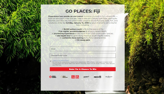 Go Places Fiji Sweepstakes