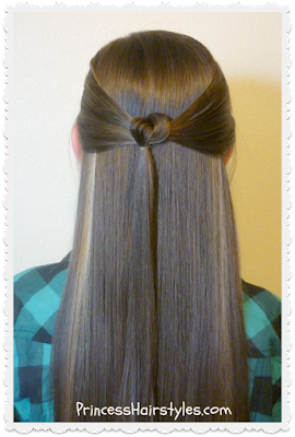 Knotted tie back hairstyle tutorial