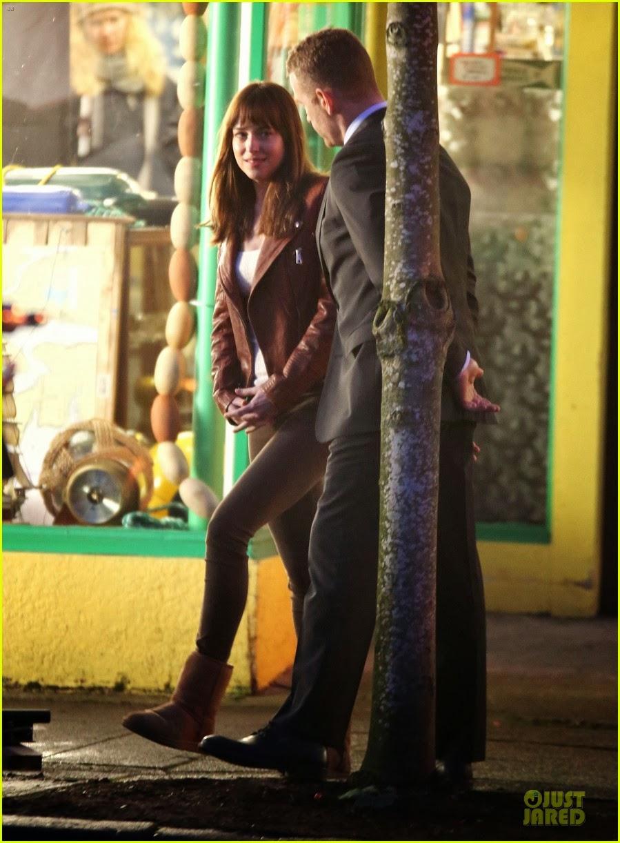 Celeb Diary Dakota Johnson Filming Scenes On The Set Of