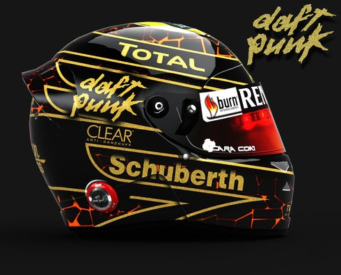 Career Daft Punk Lotus Helmet - F1 Fast Lap - The Beauty and