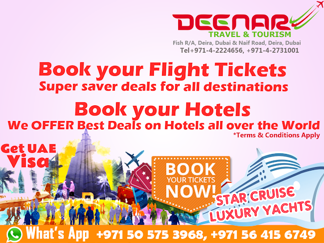 deenartravels, dubai visa, dubai flight tickets