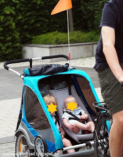 Fahrradtour mit Baby und Kleinkind