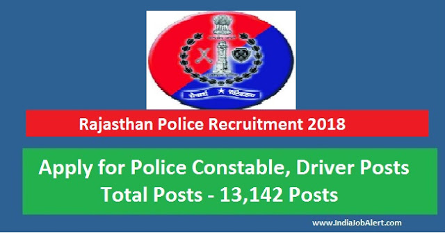 Rajasthan Police Recruitment 2018 || Apply for 13,142 Constable Posts