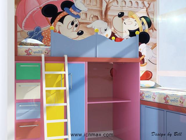 3dsMax兒童房設計作品