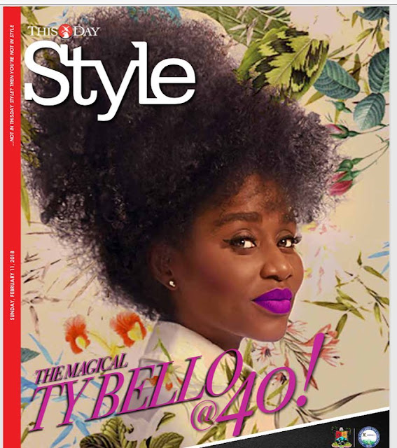 TY Bello is Gorgeous On The Cover Of ThisDay Style Mag