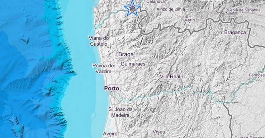 Fuerte sismo en Portugal y España de Magnitud 3.8 (Hoy Sábado 17 Noviembre 2018) Temblor Epicentro Arraiolos Melgaço - Oporto - Braga - Viana do Castelo - Alto Minho - IPMA - www.ipma.pt