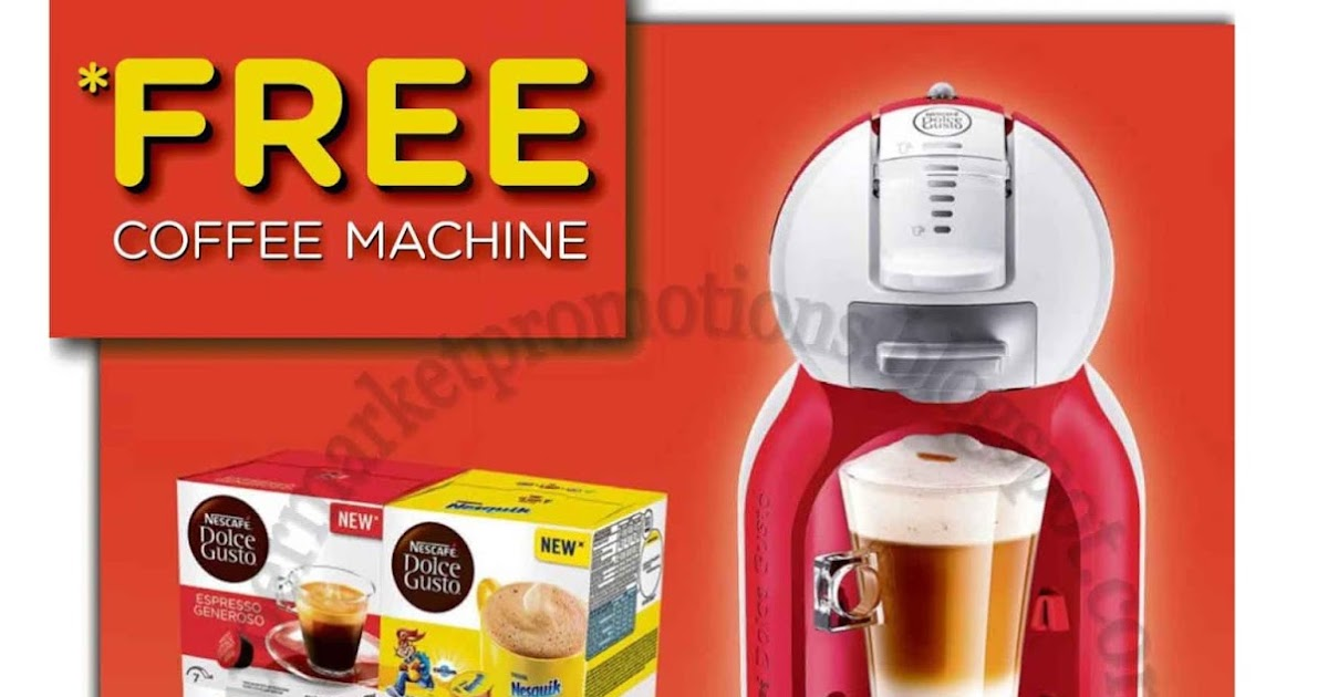 Cold Storage Market Place Nescafe Dolce Gusto Promotion 16 March